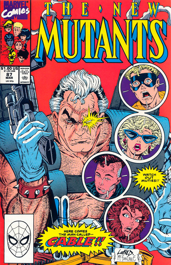 New Mutants Vol. 1 #87 - A primeira aparição do Cable
