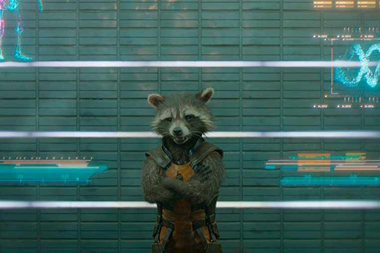 Bradley Cooper (Rocket Raccoon) em Guardiões da Galáxia Vol. 1 (2014)