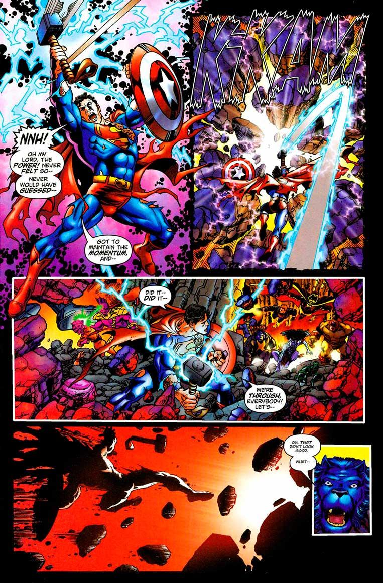 Superman já levantou o Mjolnir