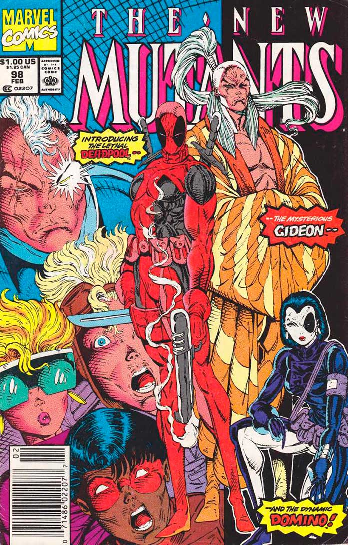 New Mutants Vol. 1 #98 - Primeira aparição do Deadpool nos quadrinhos