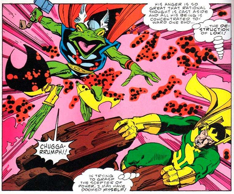Thor já foi transformado em sapo por Loki