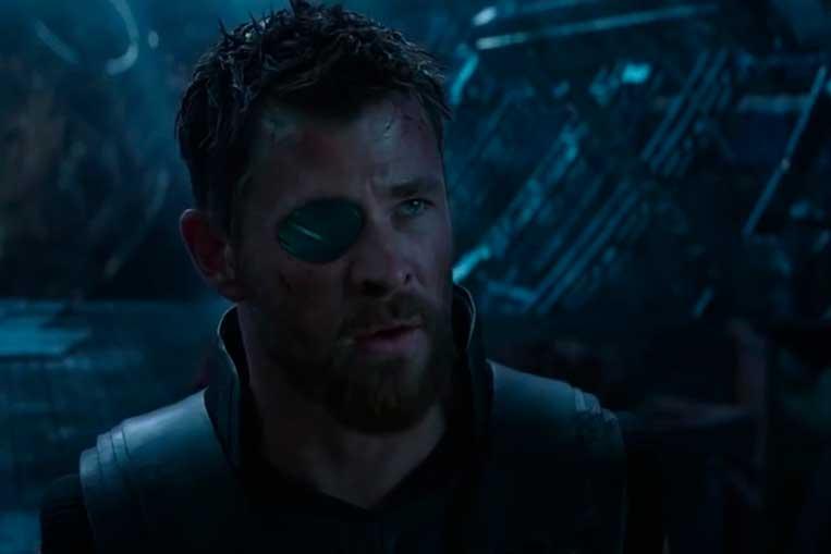Chris Hemsworth (Thor) em Vingadores: Guerra Infinita (2018)
