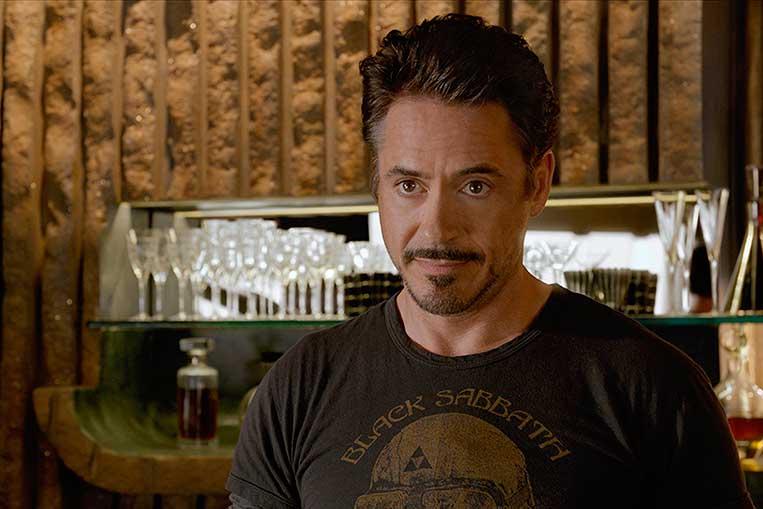 Robert Downey Jr. (Tony Stark) em Os Vingadores (2012)