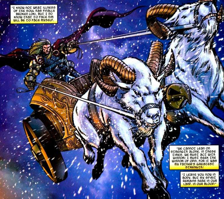 Toothgnasher e Toothgrinder, as cabras de Thor