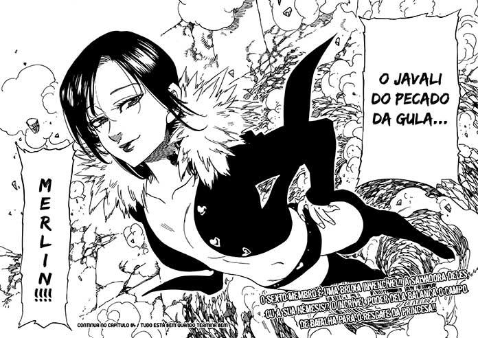 Primeira aparição de Merlin, capítulo 83 do mangá de Nanatsu no Taizai