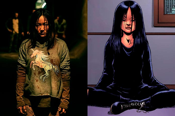 A origem da Fêmea/Kimiko série vs quadrinhos The Boys